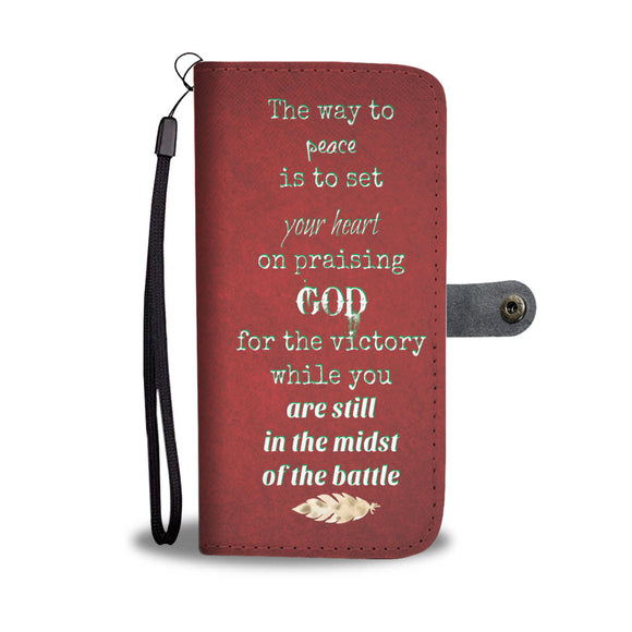 Wallet Phone Case - Praise God