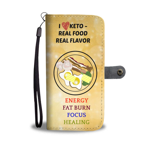 Wallet Phone Case - I Love Keto