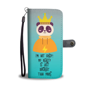 Wallet Phone Case - Panda Princess