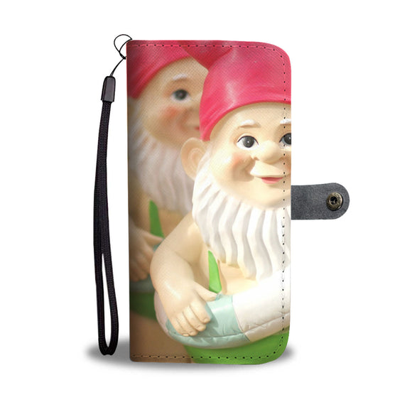 Wallet Phone Case - Beach Gnomes