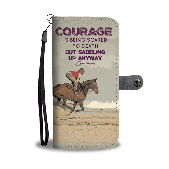 Wallet Phone Case - Courage