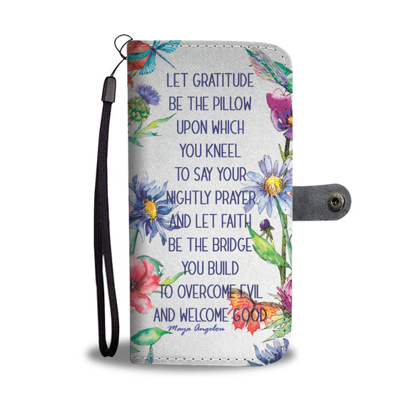 Wallet Phone Case - Gratitude