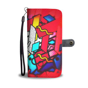 Wallet Phone Case - Neon Worms