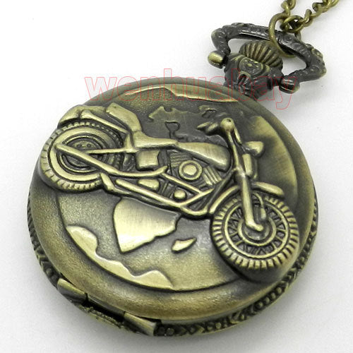 Pocket watch with motorcycle