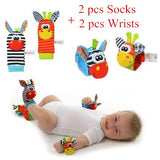 4-piece Baby Wrist and Feet Developmental Toys