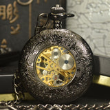 Steampunk Black Pocket Watch