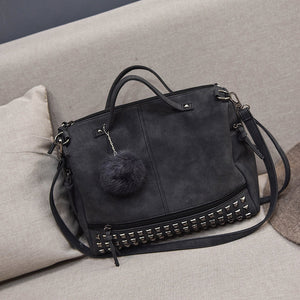 Woman's Studded PU Leather Bag