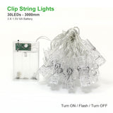 Photo Clip Holder LED String Lights (1.5M, 2M, 3M)