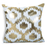 Metallic Foil and Cotton Cushion Cover