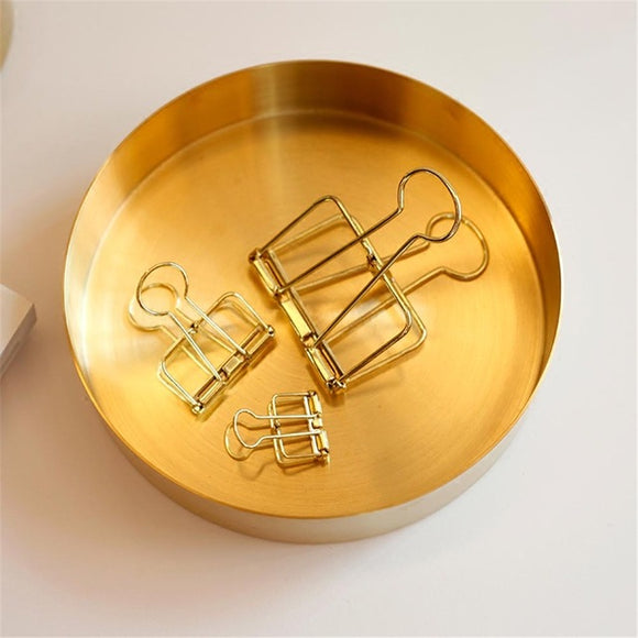 Copper Round Storage Dish in Rose Gold or Gold tones