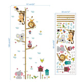 Animals on Tree Branch Growth Chart Wall Stickers