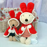 Cute plush Le Sucre bunny in a red cloak