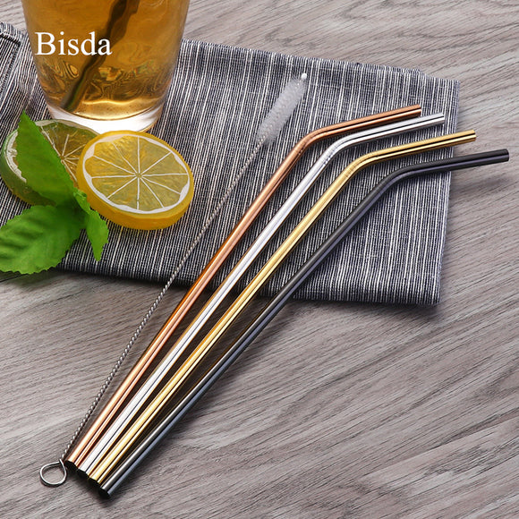 4-piece Reusable Metal Drinking Straws