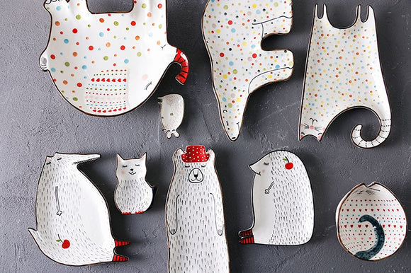 Super Cute Animal Ceramic Dishes