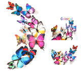 12-piece 3D PVC Wall Sticker Butterflies