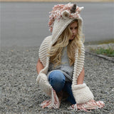 Unicorn Hat and Scarf with Pockets