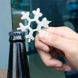 Snowflake Multi-Function Tool on Keychain