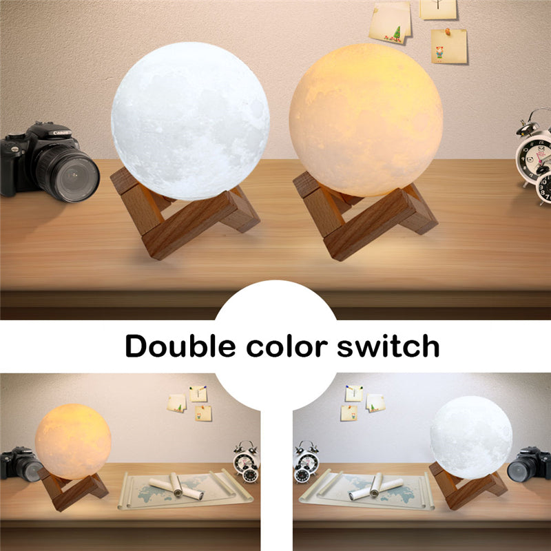 Lunar Night Light 3D