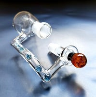Cryptic reclaim catcher with orange marble 14mm