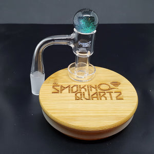 The Smoking Quartz Terp slurper quartz nail with capping marble