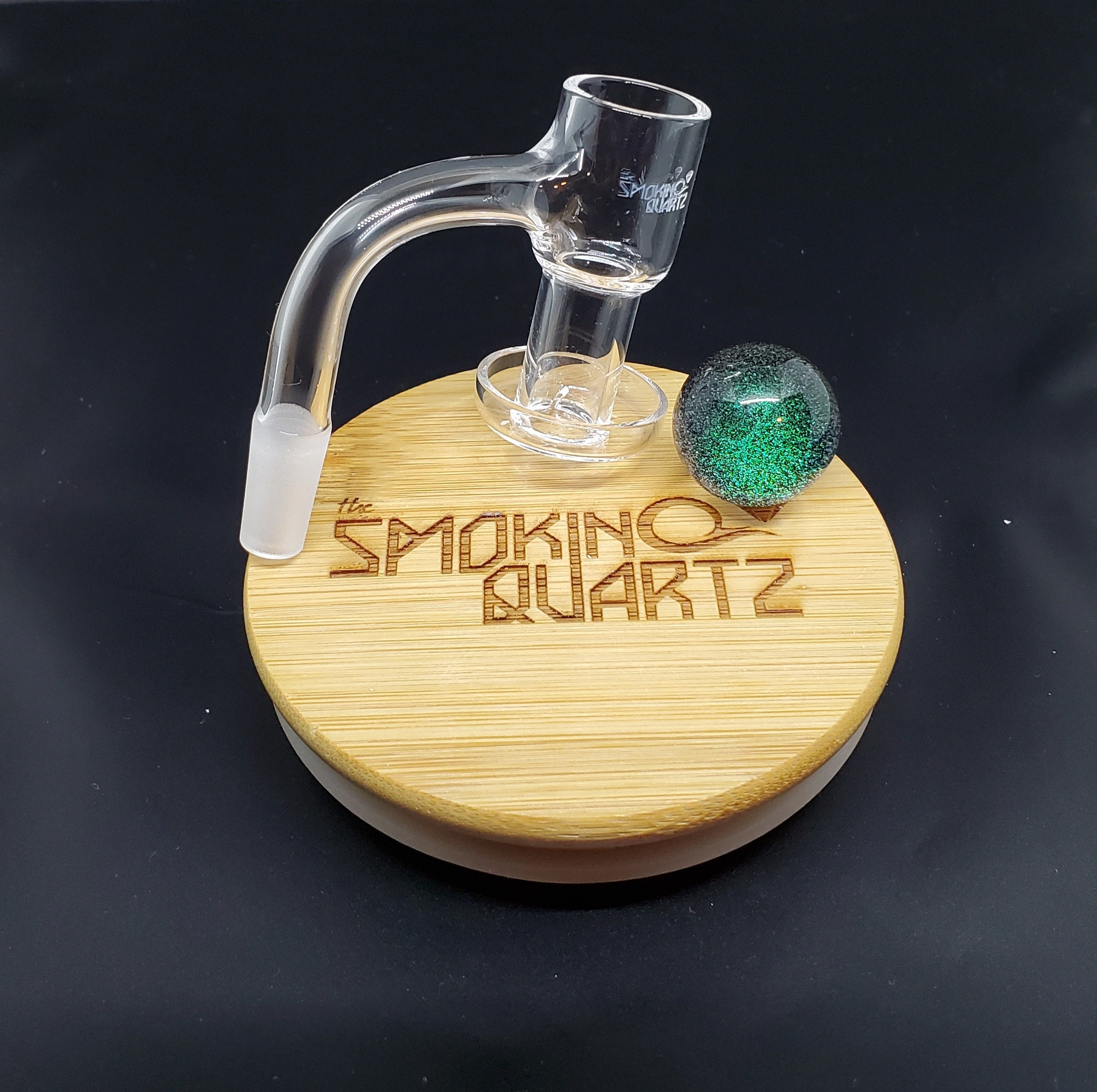 The smoking quartz terp slurper banger, 10mm with cap marble