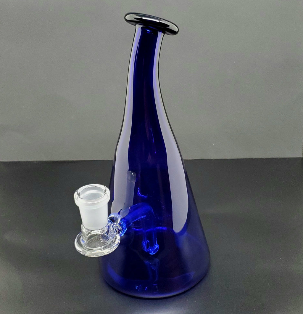 Royal blue bottle dab rig with 14mm female joint