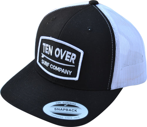 Adult Retro Trucker Cap - Black/White