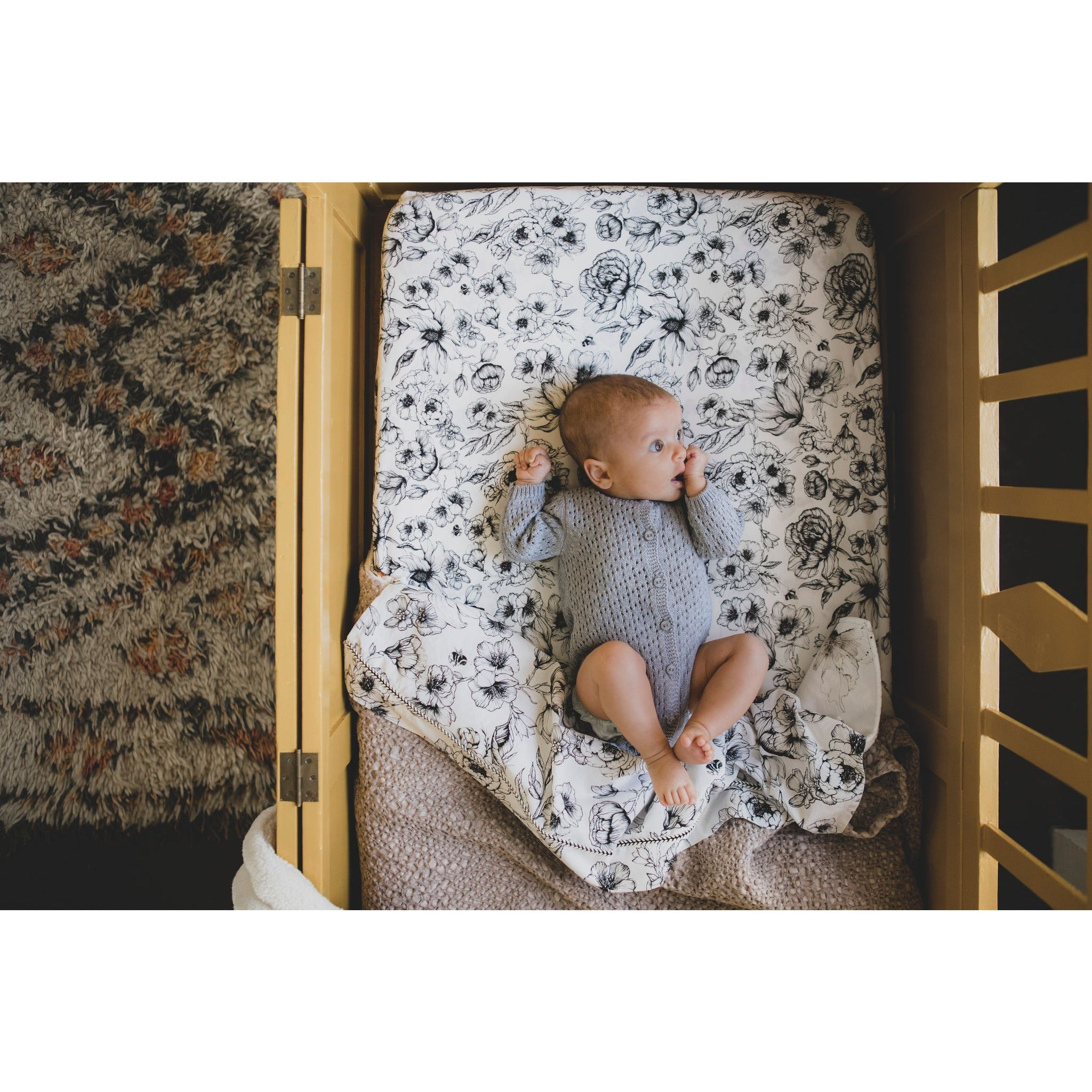 Fitted Sheet Toddler Bed Offwhite | Bumble Love