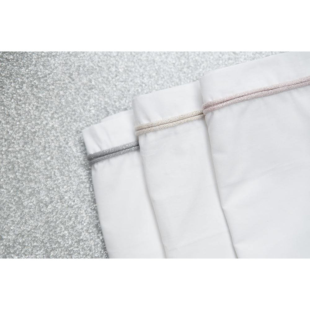 Cot sheet | White / Silver Grey