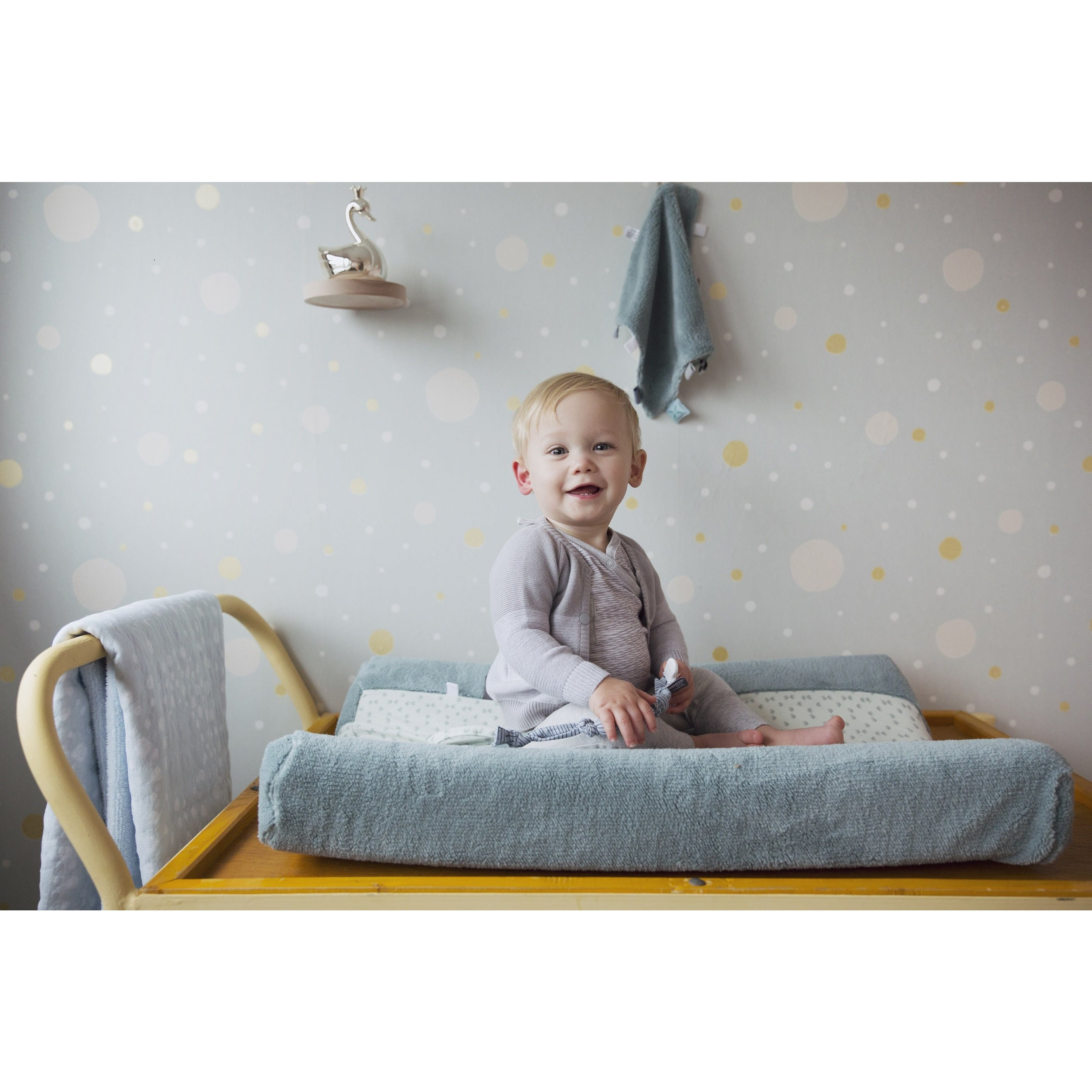 Double Layer Cot Blanket | Cloudy Blue