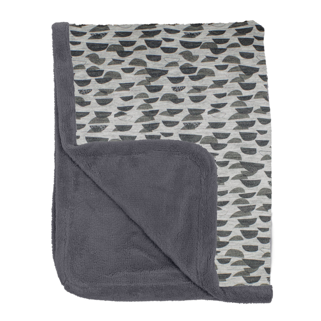 Double Layer Cot Blanket | Frost Grey