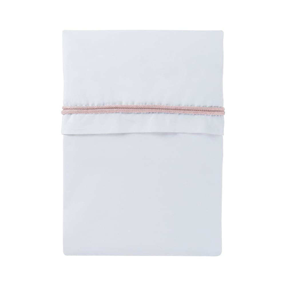 Cot Sheet | White / Classic Pink