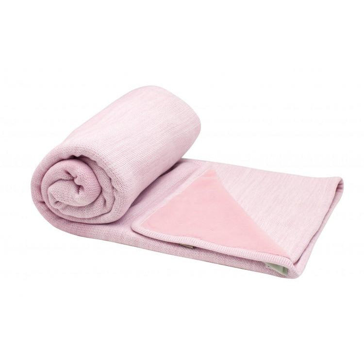 Cot blanket Stylish Cocooning Double Layer | Powder Pink