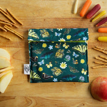 California Pollinators Reusable Snack Sandwich Bag - Zero Waste - Food Storage Bag - Eco-Friendly -Recycled Plastic Fabric