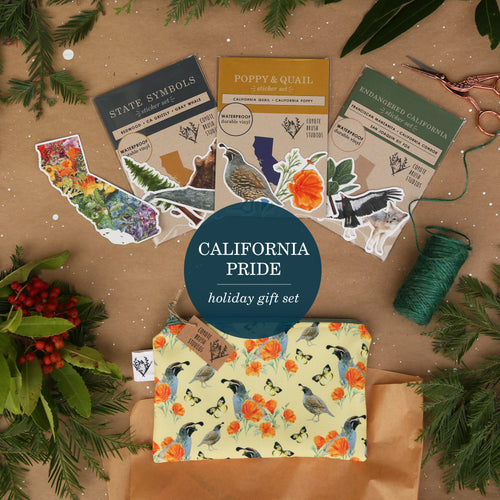 California Pride: Themed Gift Set including Stickers, Zipper Pouch