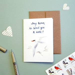 My TERN to send you a note! - Caspian tern card