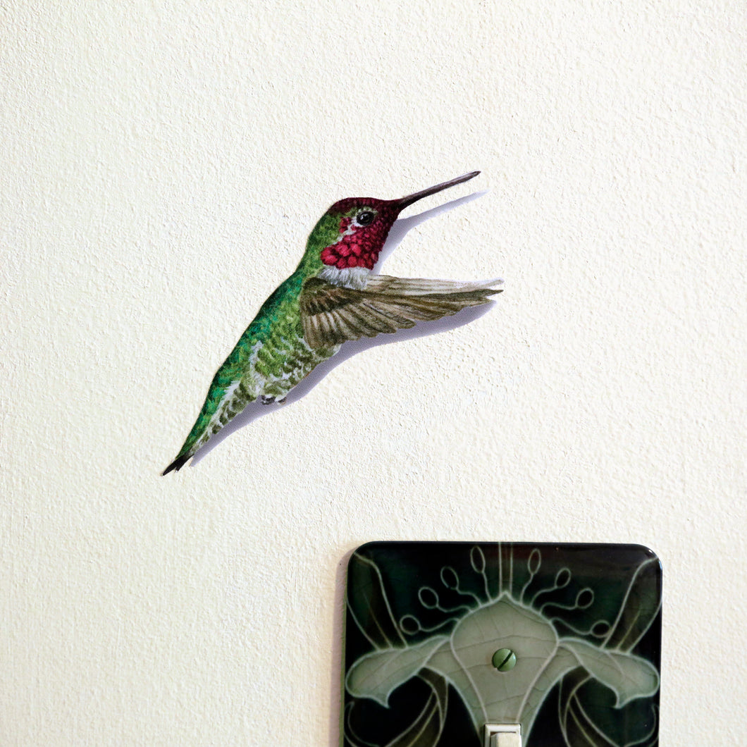Anna's Hummingbird Wall Decal