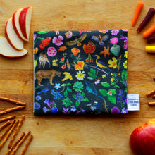 California Diversity Reusable Snack Sandwich Bag - Zero Waste - Food Storage Bag - Eco-Friendly -Recycled Plastic Fabric