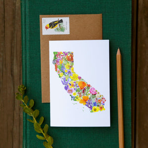 California Wildflowers Card - greeting card, wildflower card