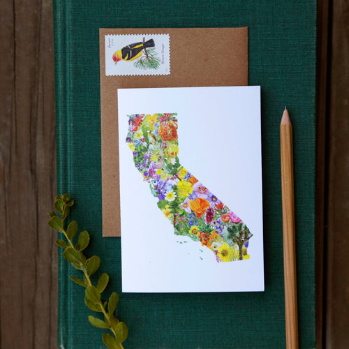 California Flora Card - greeting card, native plant card
