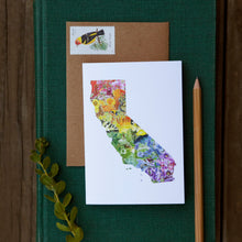 California Silhouette Card Set- 2 each of California Diversity, California Flora, California Wildflowers, and California Wildlife greeting cards