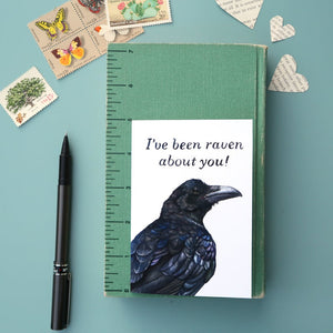 I've Been Raven About You! Raven Appreciation, Love Greeting Card