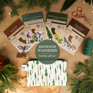 Redwood Wanderer Gift Set: Themed Gift Set including Stickers, Zipper Pouch