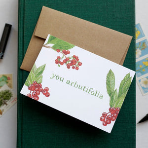 You Arbutifolia -Toyon, Heteromeles arbutifolia, California Native Plant Greeting Card