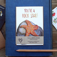 Native California ochre sea star watercolor greeting card