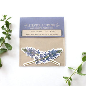 Silver Lupine: Two Temporary Tattoos