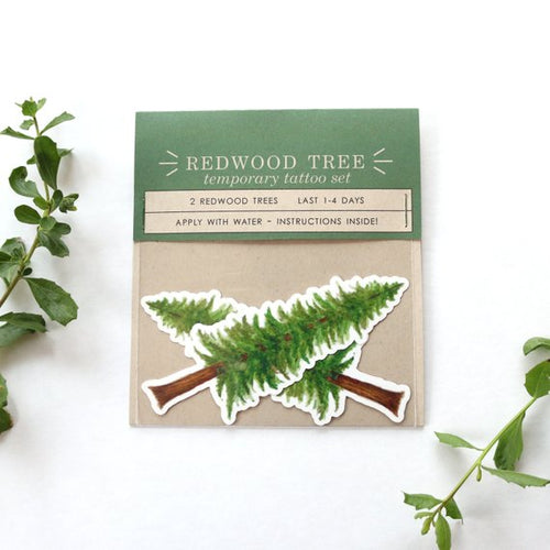 Redwood Tree: Two Temporary Tattoos