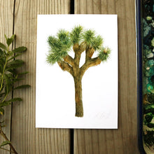 Joshua Tree  watercolor painting art print native California 5x7