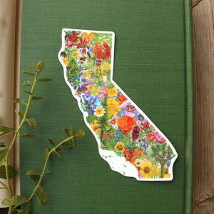 California Flora Vinyl Sticker