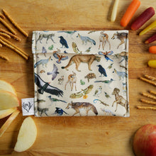 California Wildlife Reusable Snack Sandwich Bag - Zero Waste - Food Storage Bag - Eco-Friendly -Recycled Plastic Fabric